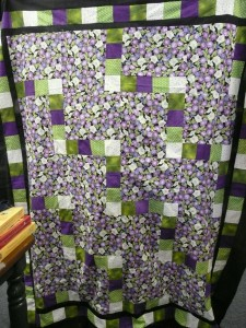 "Irene found just the right purple floral for her ""Happy Trails"" quilt"
