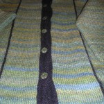 Another of Carol Hirshman's own design using Grignasco top print Alpaca...a jacket knit in strips!  wow!