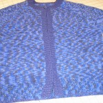 Carol Hirshman used the sweater wizard to design her own top-down sweater using Karabella's Aurora 8 Print!