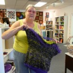 Rae Misek said this felted crochet bag was FUN to make, experimenting in rounded shapes and variegated yarn...