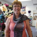 Nancy Tornquist's beautif scarf knitted with Noro Sakura!