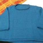 Saundra knitted this amazing sweater with Debbie Bliss Cathay for her sister - so beautiful!