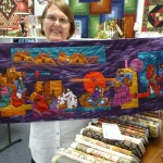 "Cynthia Griffin's ""First Art Quilt"" (Heather Thomas class)  is a Native American Story Quilt - just amazing!"