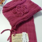 Modenna LaBrugh made this gorgeous hat & scarf with Rio de la Plata 3-Ply wool in pink carnation.