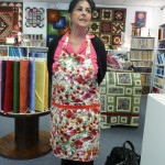 Stylish apron by Theresa Belle - she made up her own pattern!