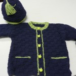 "Julie Hunter knittd this toddler cardigan & hat - pattern from Monkey Suits, ""Checkered Past""......"