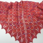 This fabulous shawl was knitted by Claire McCabe - with ArtYarns Ultramerino.  Ultra beautiful---and oh so soft :-)