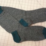 Very nice men's socks by Roberta Chase.  She used Wildfoot Sock Yarn from Brown Sheep