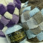 Wow!  Look at these fantastic entrelac hats knitted by Beth Farr with Cascade Fixation, a stretchy, soft cotton yarn.