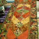 One of the many fantastic fall table runners Louise Guillaudeu created this year