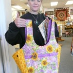 "Claudia Imbriani made this terrific ""Saturday Market Bag"" for a friend!"