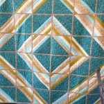 Tonia Schneider completed a FABULOUS reversible quilt ---- here's side one....
