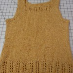 This beautiful tank was knitted by Monica Norval with Rowan Summer Tweed.  Patern on Ravelry.