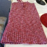 ...and Eliane knitted this great little dress for her grandaughter with Dark Horse Yarn's acrylic Fantasy.  It's the softest acrylic we've found!  The pattern is from the Twisted Sister Book