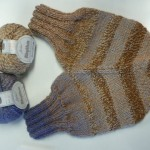 "This ""Smitten"" was knitted by Connie Bean with Jojoland Rhythm for her son's engagement gift!"