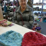 Corrie Willson knitted these two terrific hats with Artyarns Ultramerino 8.  The pattern is the Noro Swirl Hat (free on Ravelry.com)