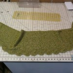 "This is the ""Saroyan Scarf"" knitted by Carolyn Bassett with Louisa Harding Cinnabar ..."