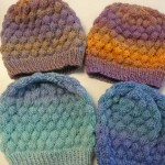 "Dale Gibson has been knitting these fantastic ""Bubble Hats"" with Jojoland Rhythm...the Bubble Hat is a free download on Ravelry - and so much fun to knit - especially with Rhythm..."