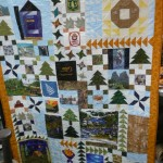 Pam Skeels made this wall hanging quilt for her husband's retirement from the Forest Service.