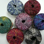 Just in - These beautiful new colors of ladder yarn - with gold or silver metallic highlights!  $7.00 per sken - 142 yards.
