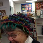 Isn't this hat awesome?  It's the Anenome Hat - a Cat Bordhi Pattern.  Carolyn Marcus knitted it with Noro Silk Garden Lite.