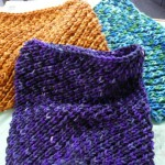 Margaret Lee has really enjoyed knitting these beautiful Eyelet Cowls as gifts.  She's used Claudia Handpainted Yarns.