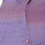 "Another successful project using Jojoland Rhythm - dk wt - 100% wool.  This is color M13 - Marcia Hall crocheted the ""Dartmour Vest"" - and even found the perfect buttons at WS also!  Beautiful, Marcia"