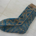 "Modenna knitted these incredible socks from a pattern in ""Warm Little Knits"" a Grete Letting book....WOW!"