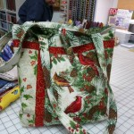 "Louise Guillaudeu made this wonderful bag - It's the Tahoe Tote.  You know we lovingly call Louise ""The Bag Lady"" because she makes the most amazing bags - and lots of them!"