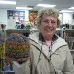 "Bonnie O'Brien's ""Bubble Hat"" (Free download on Ravelry) looks great knitted with JoJoland's Rhythm!"