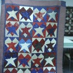 Linda Fletcher used the Buggy Barn Stars & Hearts pattern and found just the right fabrics to make this beautiful quilt!