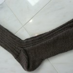"Cheryl knitted this super luxurious sock with Anny Blatt's 100% Cashmere fingering weight yarn.  Cheryl used what she calls her ""cigarette money"" for the yarn - as in, he does and she doesn't :-)"