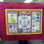 This quilt to be donated to Children's Hospital was a collaborative effort between Amy Flynn and Kathy Ruppert, with Sally's help to find the right fabrics to finish it up!  Nice work, ladies!