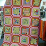 This beautiful memory quilt was made for a friend by Sally Black ........