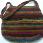 Amy Bostwick crocheted and felted this wonderful and richly colored bag...She used 4 skeins of Noro Kureyon!  So gorgeous, Amy!