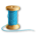 Blue Thread on Wooden Spool