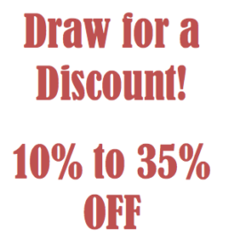 Draw for a Discount Days!  Starts Feb 13th